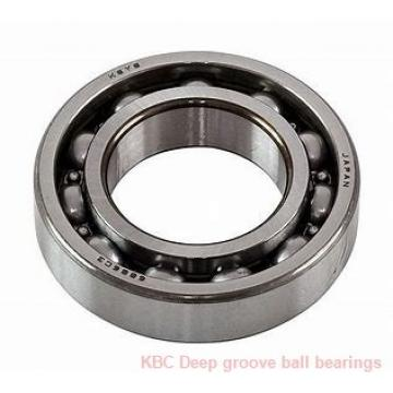45 mm x 85 mm x 19 mm  KBC 6209DD Rolamentos de esferas profundas