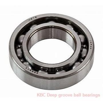 55 mm x 95 mm x 17 mm  KBC BR5595 Rolamentos de esferas profundas