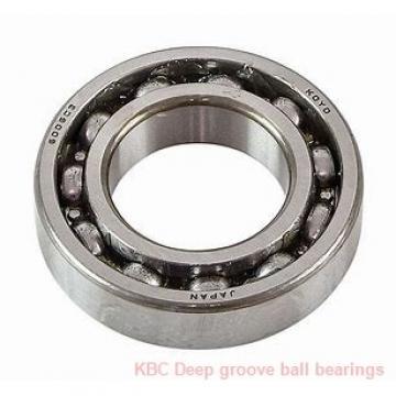 80 mm x 125 mm x 22 mm  KBC 6016ZZ Rolamentos de esferas profundas