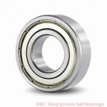 80 mm x 170 mm x 39 mm  KBC 6316ZZ Rolamentos de esferas profundas